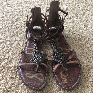 Metal detail sandals